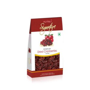 Nutraj Signature Sweet & Tart Sliced Cranberries 100G - Vacuum Pack