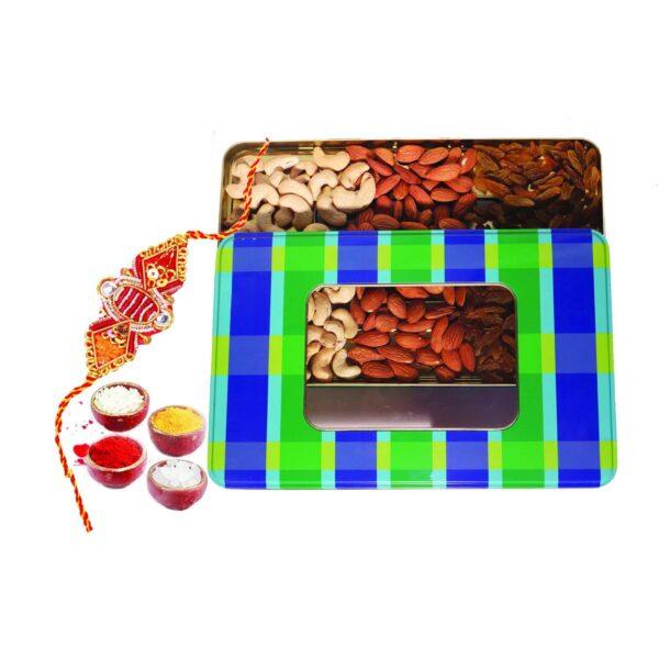 Nutraj Mixed Dry Fruit Gift Pack 300g for Rakhi (Almonds, Cashews, Raisins, Rakhi, Roli-Chawal)