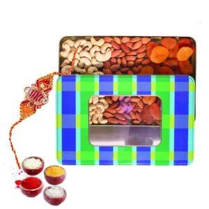 Nutraj Mixed Dry Fruit Gift Pack 300g for Rakhi (Almonds, Cashews, Apricots, Rakhi, Roli-Chawal)