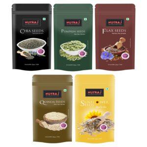 Nutlounge Super Saver Pack 1000g (Chia seeds, Sunflower Seeds, Flax Seeds, Pumpkin Seeds, Quinoa Seeds)
